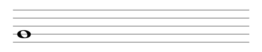 五線譜全音符表示法