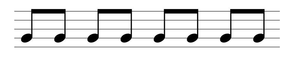 五線譜八分音符表示法