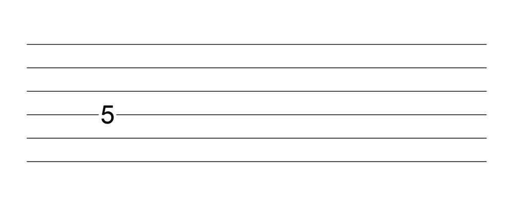 六線譜全音符表示法