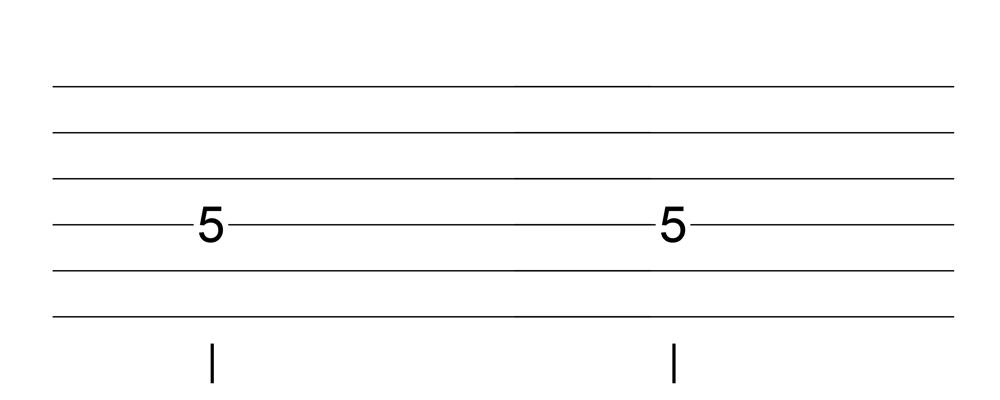 六線譜二分音符表示法