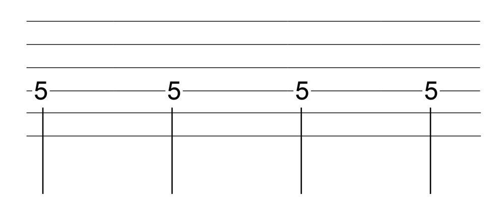 六線譜四分音符表示法