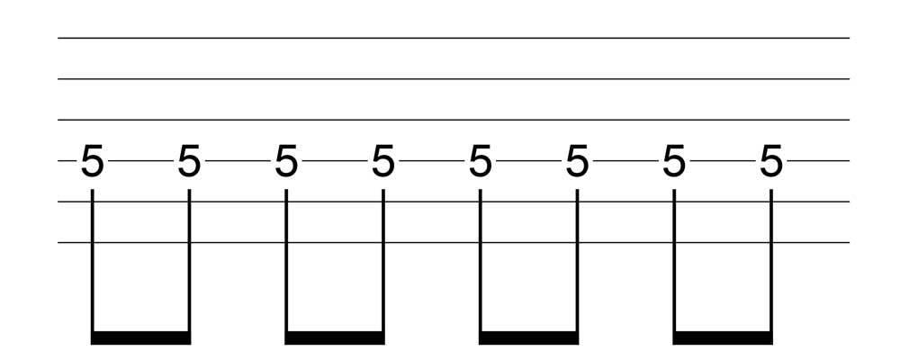 六線譜八分音符表示法
