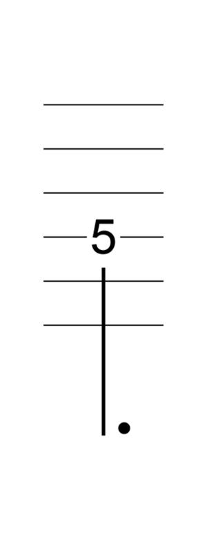 六線譜附點四分音符