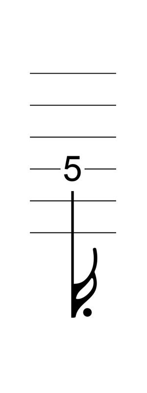六線譜附點十六分音符