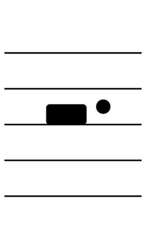 五線譜附點二分休止符