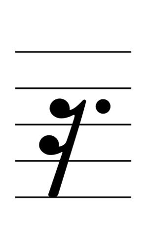 五線譜附點十六分休止符