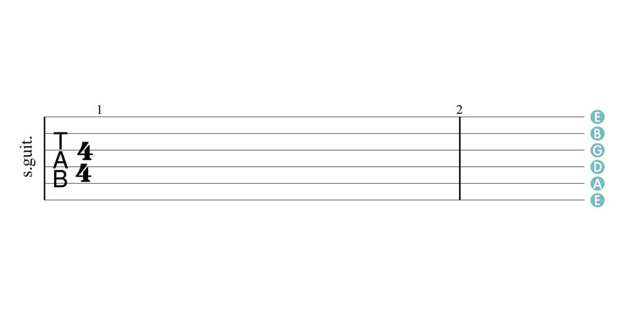 六線譜每條弦的空弦音