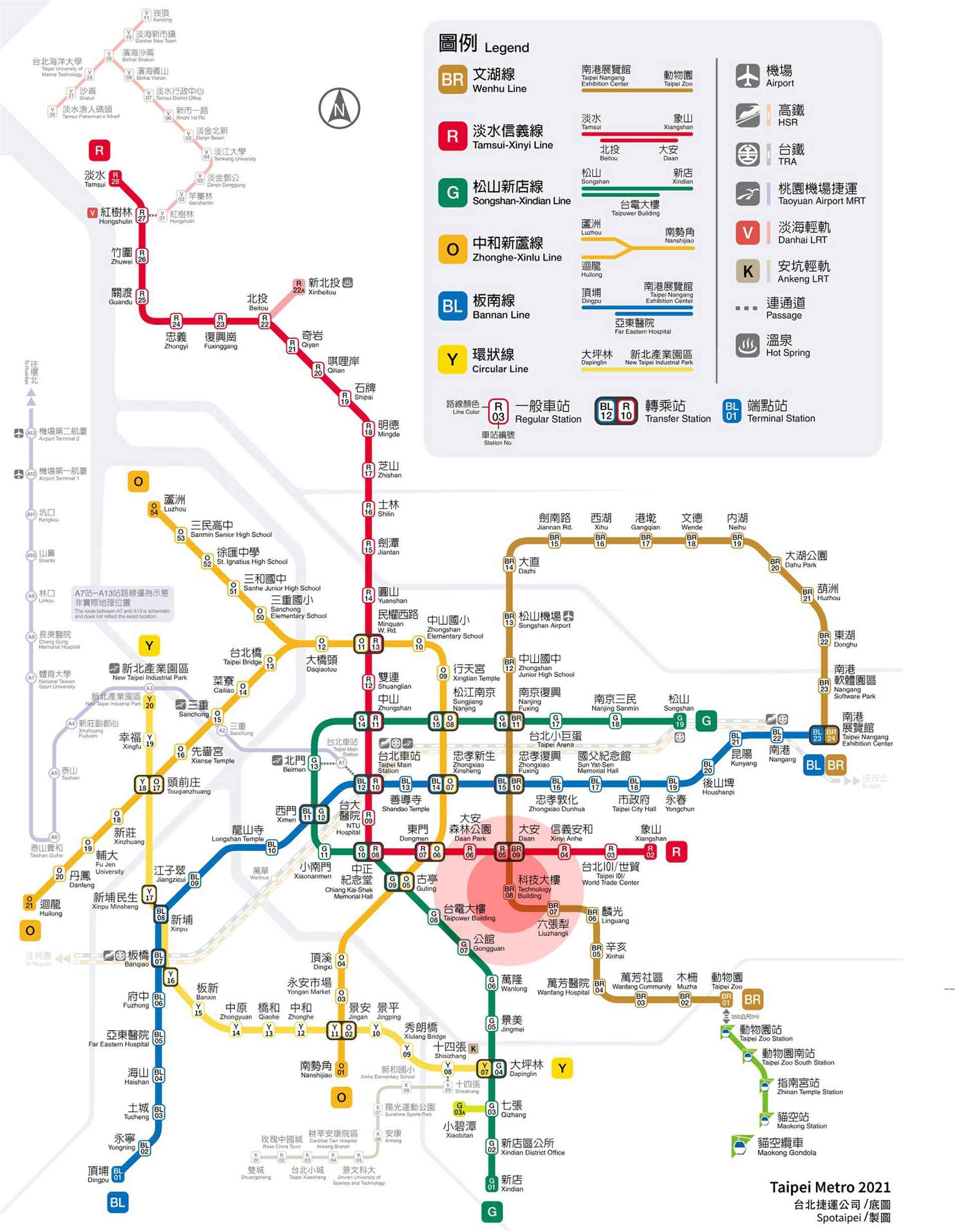 捷運圖2021