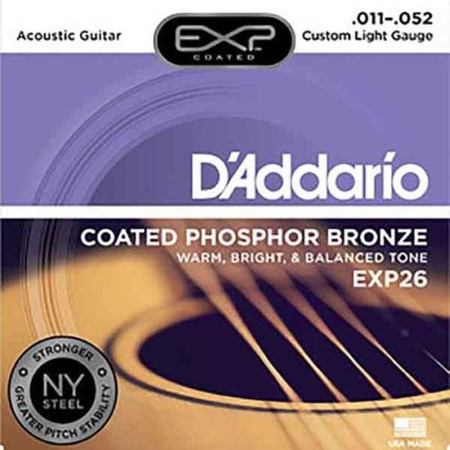 民謠吉他弦-D'Addario-EXP26-Phosphor-磷青銅-Acoustic-美國品牌