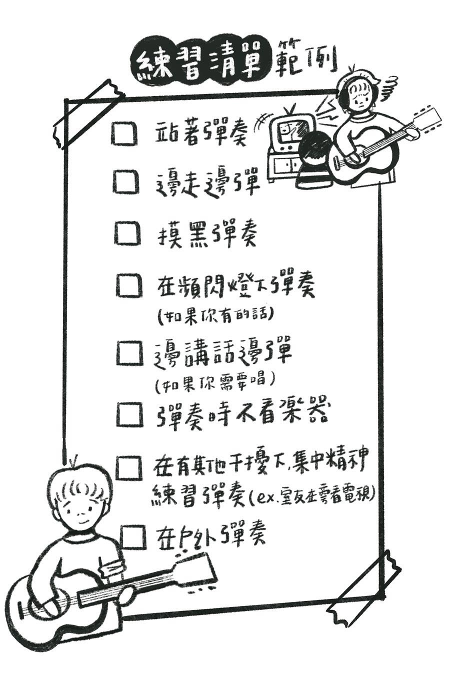 演出前練習清單一覽