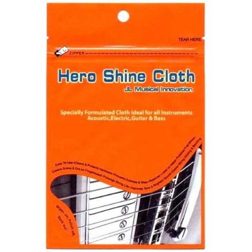 Hero Shine Cloth 吉他金屬部件亮光英雄布