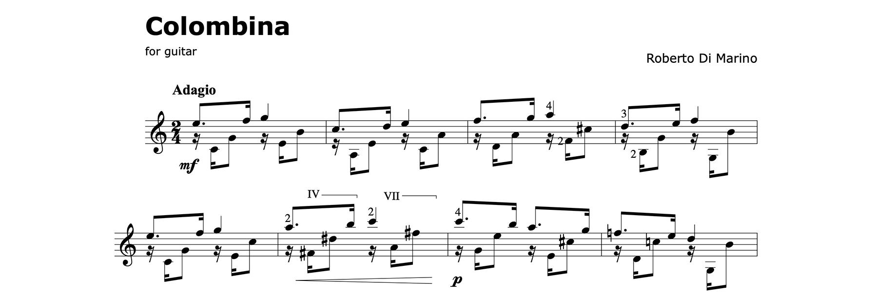 Columbina 五線譜