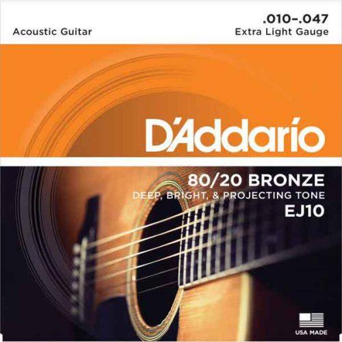DAddario-EJ10-民謠吉他弦-8020-
