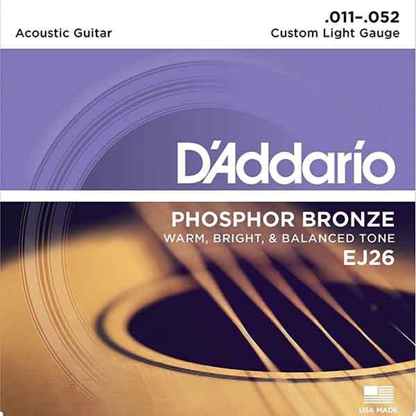 D'Addario-EJ26-民謠吉他弦-Phosphor-Bronze-11-52-磷青銅
