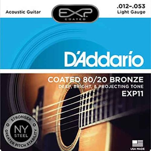 D'Addario-EXP11-民謠吉他弦-8020-Bronze-12-53-Acoustic-黃銅