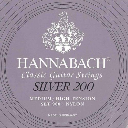 Hannabach-900MHT-Silver-200-古典吉他弦-中高張力-紫色-鍍銀