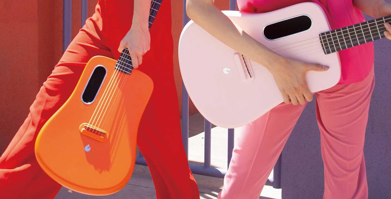 Lava Me 2 碳纖維吉他(橘/粉)