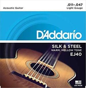 D'addario Silk & Steel 吉他弦