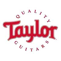 The logo of taylor guitars